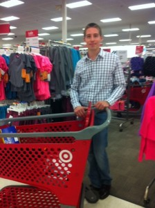 Kevin Miska shops for MBA's adopted Resurrection House family.
